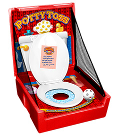 Red Potty Toss Carnival Case Game Without Legs
