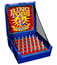 Blue Ring Toss Carnival Case Game Without Legs