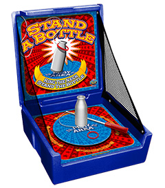 Blue Stand-A-Bottle Carnival Case Game Without Legs