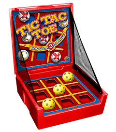 Red Tic-Tac-Toe Carnival Case Game Without Legs