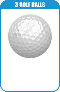 3 Golf Balls For Carnival Game